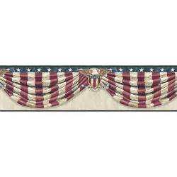 CTR63172B Grey Stars & Stripes Forever Border  Lorna  By Chesapeake