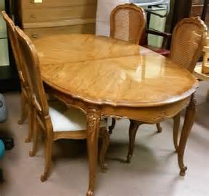 French Provincial Dining Room Set sold thomasville french provincial dining set table leaf 4 chairs