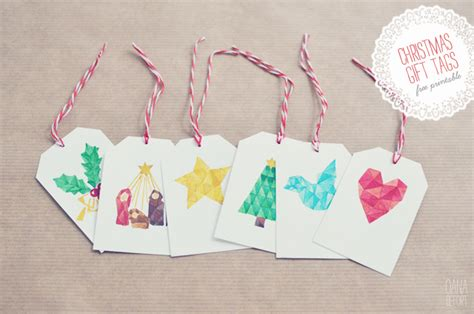 Origami Gift Tags - 20 gorgeous sets of free printable gift tags lines across