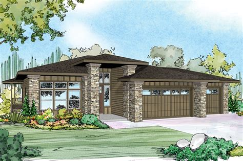 new prairie style house plan river 30 947 sloping