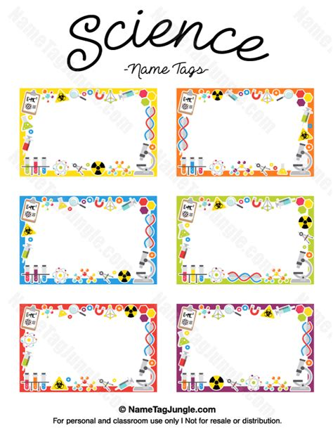 name tag template free free printable science name tags the template can also be