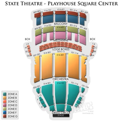 state theater seating chart cleveland state theatre playhouse square center tickets state