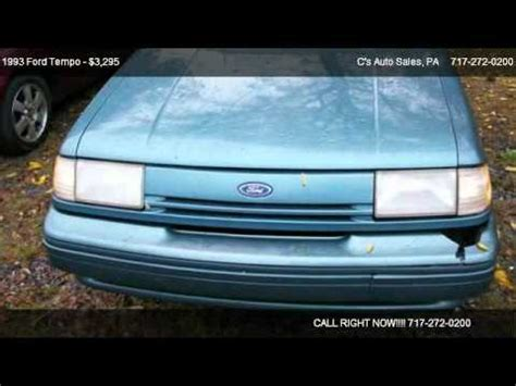 free car manuals to download 1993 ford tempo head up display 1993 ford tempo gl repair manual