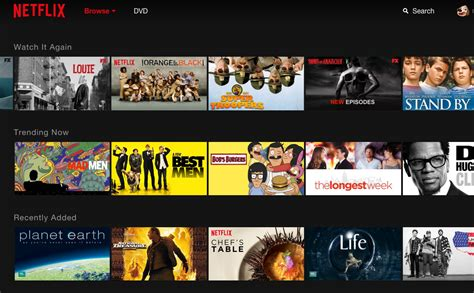 netflix tests new design for home page