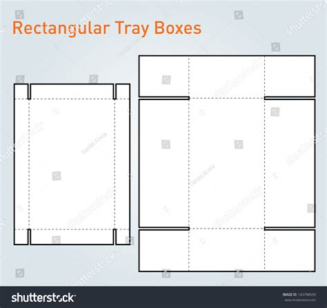 rectangle box card template packaging tray box template vector stock vector 143798539