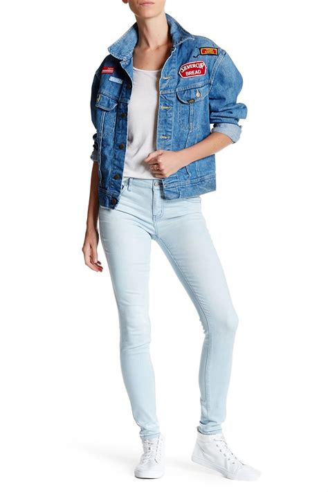 celebrity pink mid rise jeans celebrity pink mid rise skinny jean juniors in blue lyst