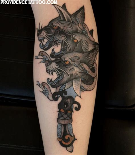 cerberus tattoo designs cerberus mythology cerberus dagger