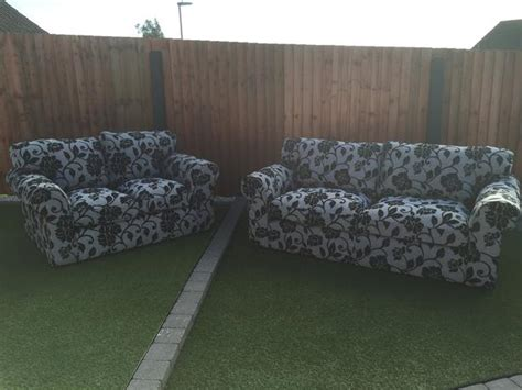 grey patterned couch grey black patterned 3 2 seater sofa set in chenille