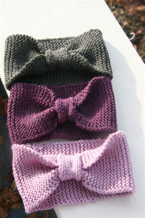 how to knit a hair bow headbands wraps also known as earwarmers
