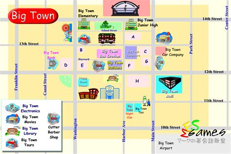 road maps and directions practice maps for big town character cards to