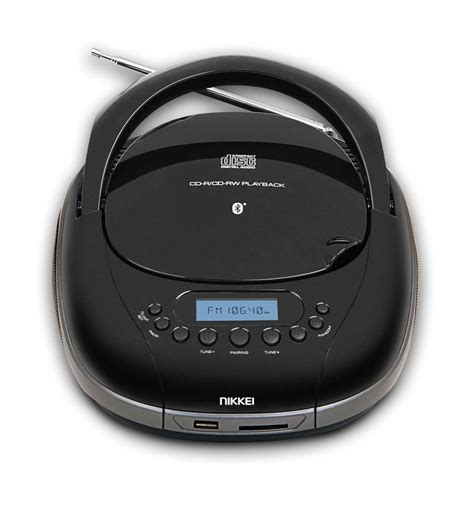 portable cd player with usb port nikkei nprc55bk portable radio cd player with usb port