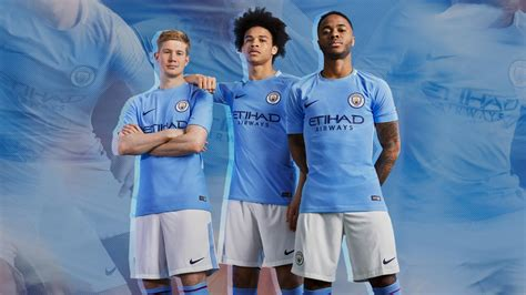 manchester city manchester city 17 18 home kit released footy headlines
