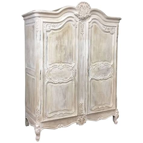 whitewash armoire 19th century country french regence whitewashed armoire at