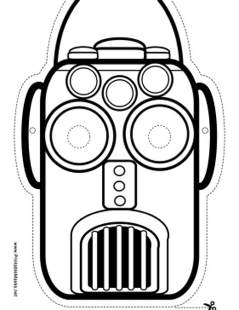 printable robot eyes the rectangular robot mask has a vertical slit mouth