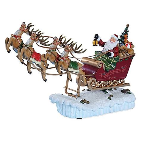 buy roman santa s rocking sleigh musical figure from bed