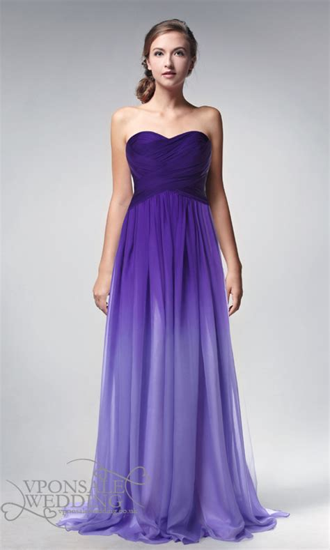 prom and wedding dresses strapless length ombre purple prom dresses 2014