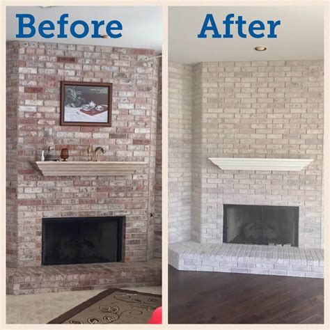Paint your fireplace? Easy update with gray washing ? Just