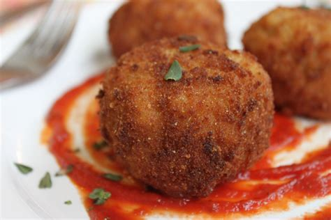 beer and gouda fried risotto balls arancini bay area bites kqed food