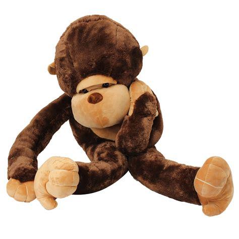big stuffed 130cm large big stuffed soft plush brown monkey doll plush alex nld