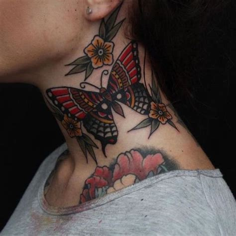 butterfly tattoo on neck meaning 82 best butterfly tattoo ideas meaning images on