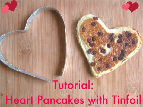 valentine heart pancakes using diy tinfoil shapes a