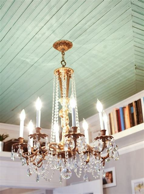 Cool Painted Ceilings by Painted Ceiling Chandelier Front Door