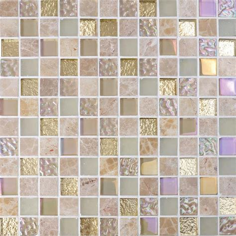 Stick On Backsplash Tiles For Kitchen Crystal Glass Mirror Tile Backsplash Stone Amp Glass Blend