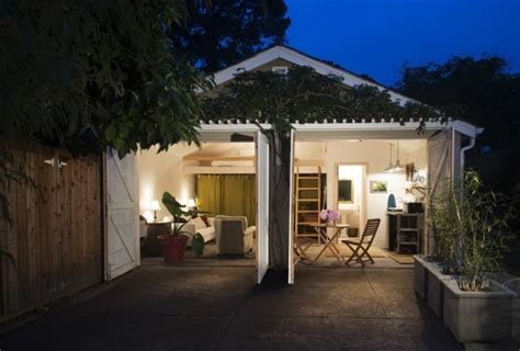 converted garages two car garage converted into backyard tiny cottage