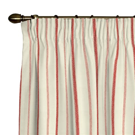 Vorhang Rot by Vorhang Kraeuselband Rot Creme Streifen Gardine