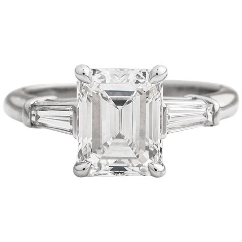 Emerald Cut by And Co 2 17cttw Emerald Cut Platinum