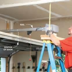 Garage door opener installation instructions