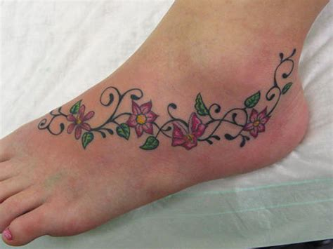 flower ankle tattoo designs cr tattoos design small foot tattoos for