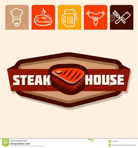 steunk house design steak house stock vector image 51783048