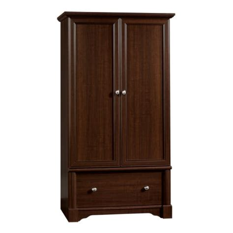 Affordable Armoires by Cheap Palladia Wardrobe Armoire Select Cherry Finish