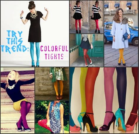 7 Tips For Wearing Brightly Colored Tights by La Fashionista Try This Trend Bright Tights