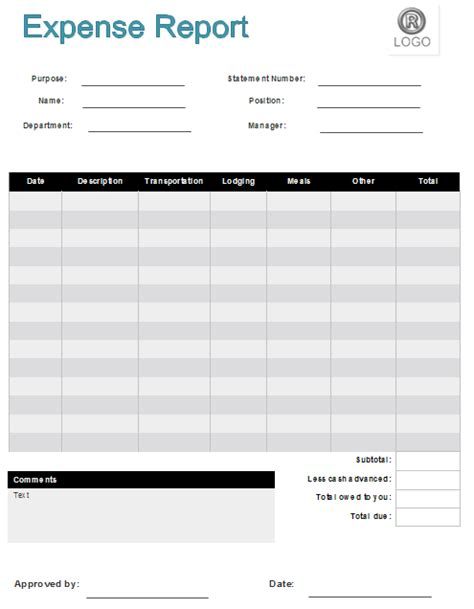 business expense report template basic expense report template helloalive