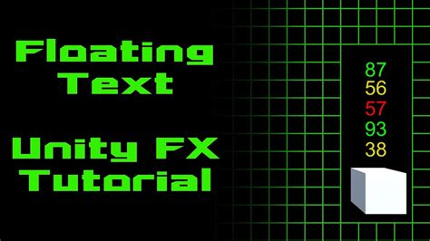 Unity Tutorial Text | unity tutorial float damage text youtube