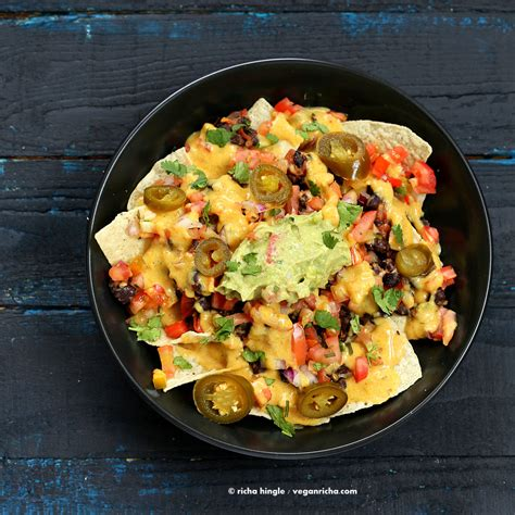 Not Your Regular Nachos Black And White Nachos by Vegan Nachos With Nut Free Nacho Cheese Vegan Richa