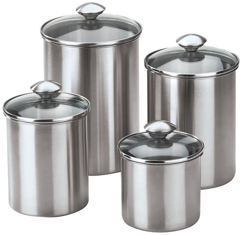 canisters marvellous stainless canister farmhouse kitchen
