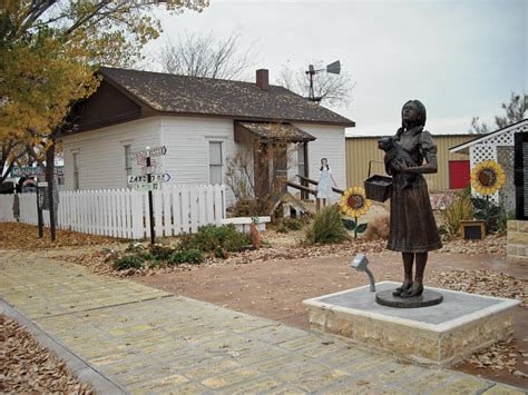 wizard of oz house dorothy s house and the land of oz in liberal kansas