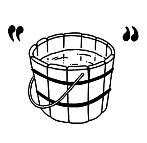 water bucket coloring page water bucket page coloring pages