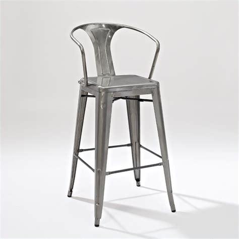 crosley furniture amelia  metal bar stool  galvanized