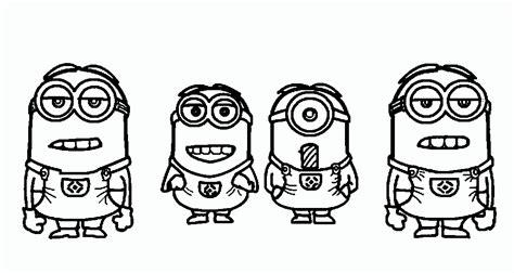 imagenes de minions para colorear tiernos dibujo para colorear de varios personajes de los minions