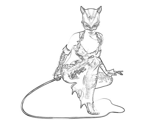 coloring page catwoman batman arkham city catwoman weapon how coloring
