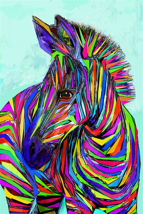 Popular Home Decor Blogs by Pop Art Zebra Digital Art By Jane Schnetlage