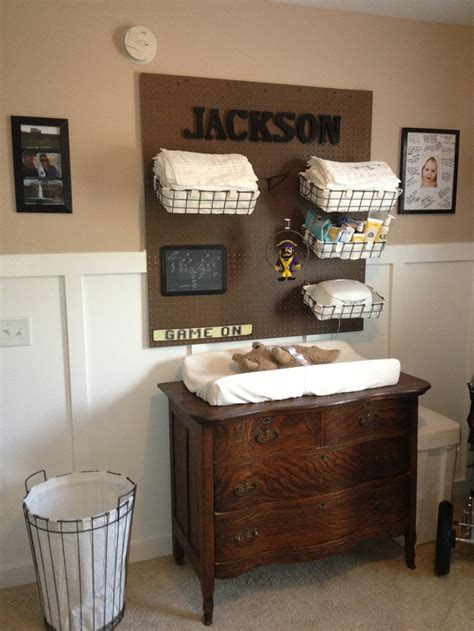 Antique Changing Table Antique Dresser As Changing Table And Wire Baskets As Storage Nursery Pinterest Changing
