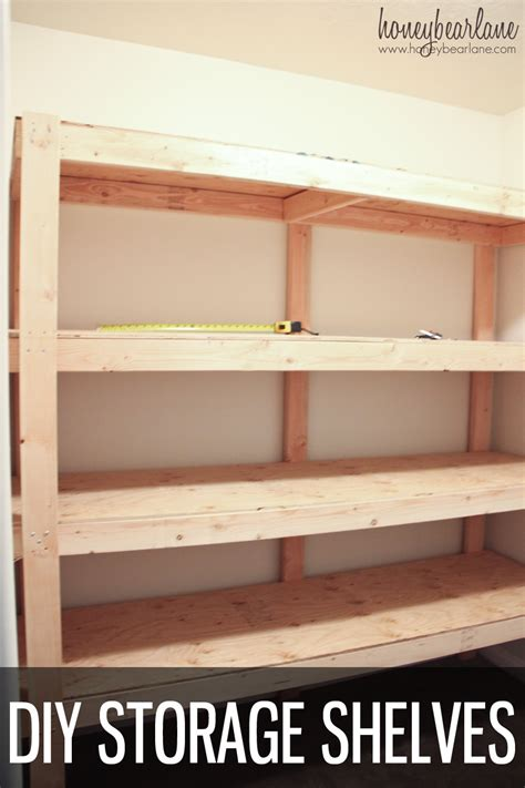 diy storage shelves honeybear