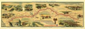 pony express 1860s pony express map dinosaur cowboys