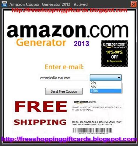 amazon coupon free amazon coupon generator 2013 get your free amazon