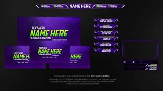free twitch overlay template pack 2 psd free